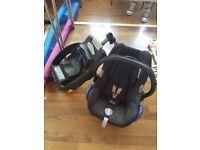 Maxi cosi baby car seat and base