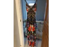 Lipsy Exotic Print Maxi Dress - Size 10