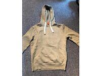 Mens Superdry Sweat Shirt Embossed Hoodie Grit Grey (Medium)