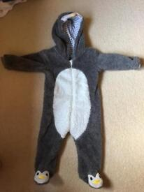 Cosy Penguin all in one 9-12months