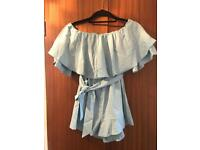 Off the shoulder Playsuit size 8