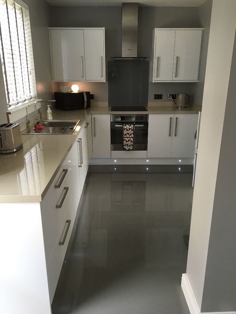 Wickes Kitchen Flooring Kitchen Bathroom Wickes Infinity Grey Polished Porcelain Tile 600