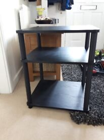 Black tv stand/shelf unit