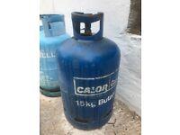 15kg and 12kg butane gas bottles full