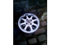 Pair of 15 inch; Volvo alloy wheels