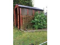 Used shed ( wood) 180 x 240 Cm with window
