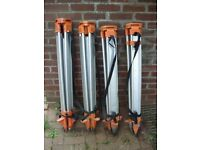 X4 SURVEYORS TRIPOD DUMPY LEVEL THEODOLITE STAND £20 EACH OR £50 THE LOT