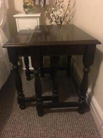 Solid wood nest of tables