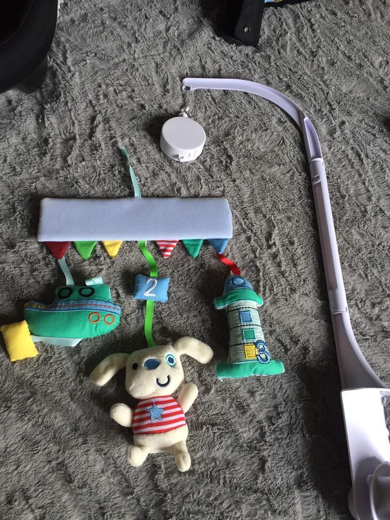 Baby mobile and soothing light up/musical