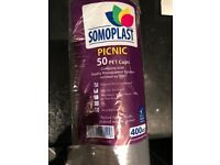 Strong Soft Plastic Cups 400cl (just under 1/2 Pint) - CHEAP!