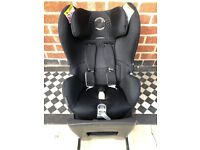Cybex Sirona Group 0+/1 Car Seat, Black With Isofix With Belly Bar   Used, Good Condition