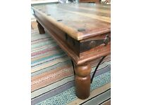 Large Indian hardwood coffee table