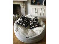 Leather Beanbag - large in excellent condition