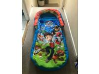 Kids Paw Patrol inflatable Ready Bed