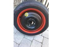 Pirelli space saver spare wheel and tyre never used. 125 80R 15