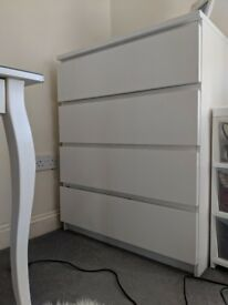 IKEA MALM white drawers