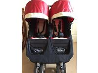 Baby jogger city mini bundle double red/cream