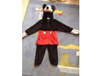 Mickey mouse costume 3-5 years