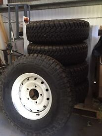 Defender rims and tyres