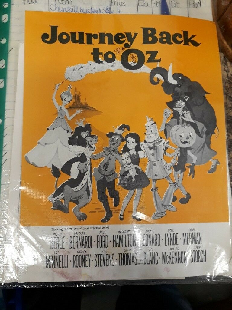 Journey Back to Oz - vintage film advertisement page. Collectible movie ephemera
