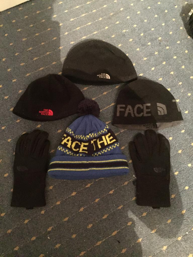 North face hats and gloves for sale  75d20a7a991