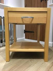 Beech bedside tables and drawers for sale