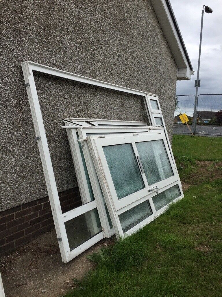 Selection Of Second Hand Upvc Windows Front Door Frame For Sale