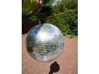 Disco ball and spot lights