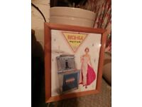 ROCKOLA JUKEBOX FRAMED PICTURE - COLLECTABLE - GOOD CONDITION