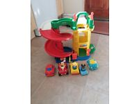 Fisher Price little people garage with cars