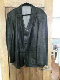 M&S real leather jacket
