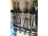 Thule roof bars and 4 bike : cycle carriers