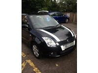 SUZUKI Swift 1490cc Petrol, Manual Black, 3 DR Hatchback 2008