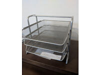 Ikea Dokument Letter Tray (two sets) Silver mesh Excellent Condition