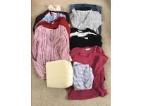 Large maternity clothes bundle size 12 and bump cushion, excellent condition!
