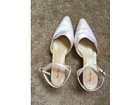 Wedding, bridal shoes size 4.5 Rainbow