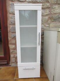 Batroom cabinet / storage unit glass front, medicine cupboard REDUCED