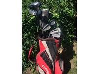 Full set of LEFTHAND golf clubs plus extras