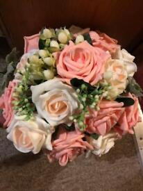 Artificial flower bouquet wedding