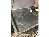 Concrete slab moulds dye and vibrating table