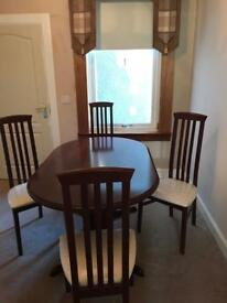 Mahogany Table & 4 chair set