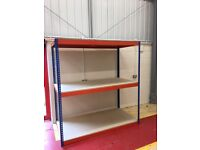 JOB LOT 50 bays Rapid 1 industrial longspan shelving 6ft high. ( pallet racking , storage )