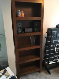 Next tall shelf book shelf solid wood
