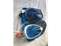 x2 Full Face Tribord Snorkel Masks