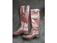 Paloma-s brown leather boots size 4uk, 37eu