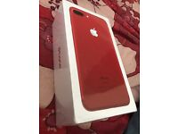 Unopened iPhone 7 plus 128gb limited edition Red