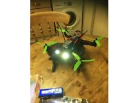 rc fpv racing drone with spares