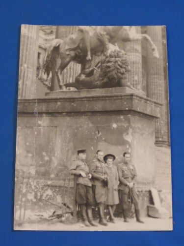 WW2 Soviet russian military Officer PHOTO in Berlin Germany Red Army USSR