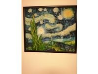 BEAUTIFUL REPRODUCTION OF VAN GOGH'S STARRY NIGHT PAINTED IN OILS (NEED TO SELL AS MOVING ABROAD)