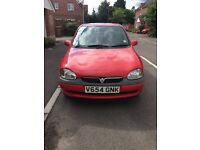 Red Vauxhall Corsa 973 CC (1.0 L) 12V CLUB 3dr hatchback - IDEAL FIRST CAR